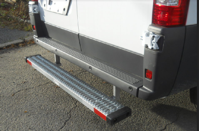 The Promaster Bumperstep kit and mounting bracket kit.
